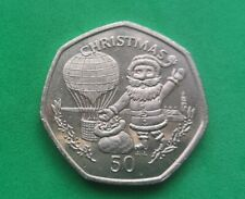 More details for gibraltar 1994 christmas 50p aa die mark