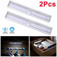 2er LED Unterbauleuchte mit Batterie Licht Leiste Bewegungsmelder Küche Schrank