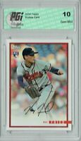 Max Fried 2018 Topps Rookie Review #5 1435 Made Rookie Card PGI 10