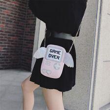 Game Over Videogame Wing Girls Laser Shoulder Bag CARDCAPTOR SAKURA Pink Handbag