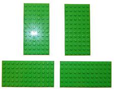 LEGO 4x Large Plates 6x12 stud/pin LIGHT GREEN flat base plate 12x6 minecraft
