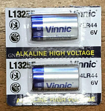 2 pieces of Vinnic L1325F Alkaline 6V battery carded in stock USA