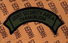 US Army Joint Security Area Pan Mun Jom JSA OD Green & Black BDU scroll patch