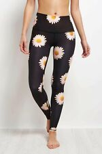 NWT Teeki Yoga Hot Pants Legging in Daisy Floral Print sz L