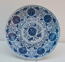 RARE LARGE SIZE GUANGXU MARK AND PERIOD LOTUS PLATE EX CHRISTIE'S