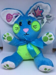 PLUSH Bunny Rainbow Rabbits Baby Shower 16cm Blue