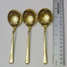 Vintage Dirigold Dirilyte Goldware Empress Flatware Silverware Cream Soup Spoon