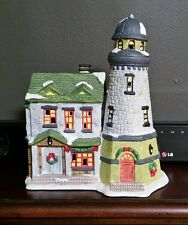 Dickens Collectables Towne Series Seaside Lighthouse Holiday Christmas w/ Light