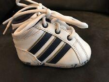 Adidas White Leather Baby Booties Size UK Infant 0