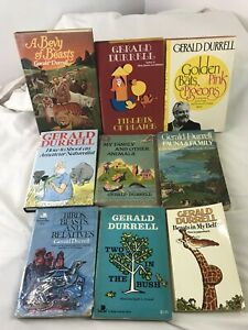 Lot of 8 GERALD DURRELL Books 4 HBs & 4 SBs #S0202
