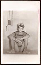 Vintage Male Nude - 1950's Figure Study of Beatnik Sailor with Cig - 5 x 8
