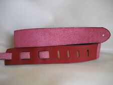 LEATHER RED STONEWASHED BASS, ACOUSTIC GUITAR STRAP