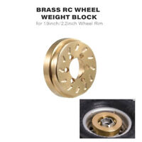 2Pc Brass RC Wheel Weight Block Counterweight for 1/10 Traxxas HSP RC4WD K5C5