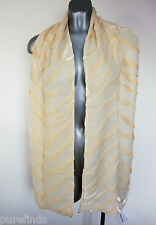 WOLFORD TIGER SILK SCARF, SHAWL, COVER UP Golden Haze, Made In Italy, new in box