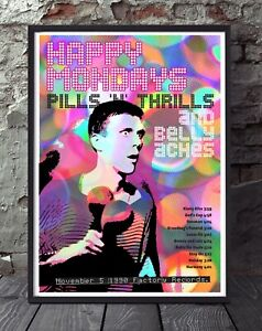 Happy Mondays Bez A4 size print  poster. Specially created.