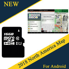 16GB MicroSD Card Car GPS Nav Map Software For Android w/ USA Canada Mexico Map