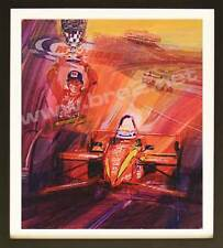 """Zanardi Takes Michigan"" Signed Original George Bartell Watercolor, ink, and pen"