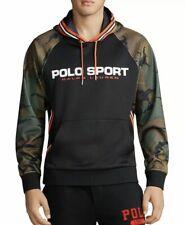 🔥$198 Men's Polo Ralph Lauren Long Sleeve Knits Sport Hoodie L Camo Pullover