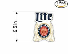 Miller Lite Pilsner Beer Drink 2 Stickers 9.5 Inch Sticker Decal