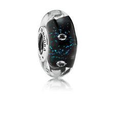 Pandora Midnight fizzle Murano Charm Bead (genuine ale 925)  791627CZ