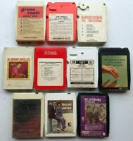 Lot of 10 8 Tracks Tapes - Mixed Genres