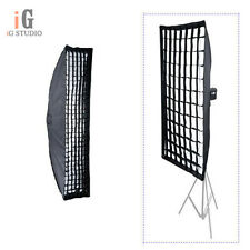 Photo Strip Softbox 20x90cm w/ Honeycomb Grid Bowens Mount for Strobe Flash