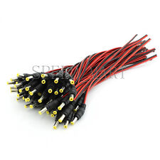 100 PCS 12V 5.5x2.1mm male DC Power Socket Jack Connector Cable Plug Wire CCTV