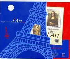 Bloc feuillet chefs d'oeuvre de l'art philexpo 1999, modèle Tour Eiffel neuf