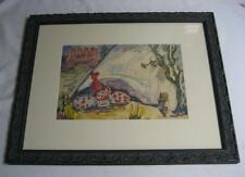VINTAGE c30s LISTED? CLOWN RESTING CIRCUS TENT PAINTING