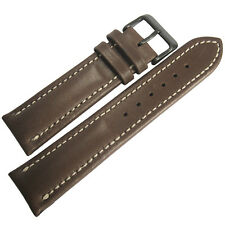 20mm Mens Fluco Chrono Nabucco Brown PVD BUCKLE Leather German Watch Band Strap