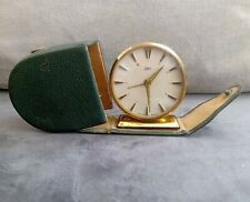 Vintage 1960's EMES - GERMAN - Small Travelling Alarm Clock & Case