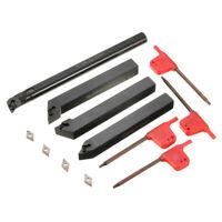 4 Portautensili barra di alesatura tornio porta utensili 12mm +4 DCMT0702 insert