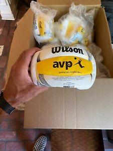 WILSON AVP OFFICIAL BEACH VOLLEYBALL (White/Yellow)