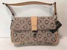 Guess G Quard Brown Logo Handbag NWT Small Clutch Purse