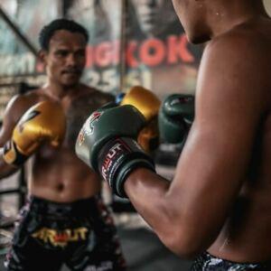 TKO FIGHT GEAR ARWUT BG2 MUAY THAI GENUINE LEATHER K1 MMA 8-16OZ EXPRESS SHIP