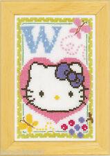 Vervaco  0149596  Point de Croix Compté Alphabet © Hello Kitty - Lettre W