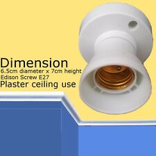Edison Screw ES Plaster Ceiling E27 BULB Lamp holder White Lighting Accessories