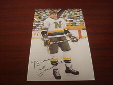 Brian Lawton 1984-85 Minnesota North Stars Signed Postcard 3.5X5.5 Autograph AN