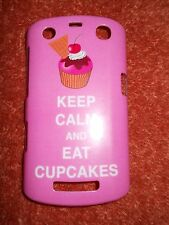 Hard Cover For Blackberry Curve 9360 Phone-Keep Calm and Eat Cupcakes