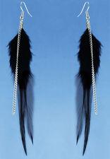 F3509 fashion black Feather chain cute dangle earrings noble women jewelry hot