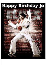 Elvis  Rice Paper Birthday Cake Topper! EP1N