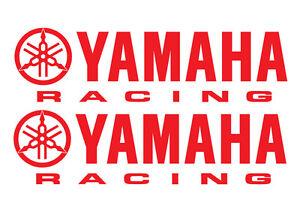 2 YAMAHA RACING DECALS - 2 decals 280 x 76mm YAMAHA RACING STICKERS - 18 COLOURS