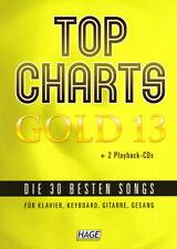 Top Charts Gold 13 Noten Songbook für Klavier Keyboard Gitarre leicht mit 2 CDs