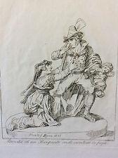 Bartolomeo PINELLI (1781-1835) Roma 1834 estampe Italie XIXe  Brigante