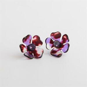 Kate Spade New York Petal Pushers Statement Stud Earrings Purple Multi