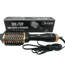 One Step Hair Dryer and Styler Blower Brush Black/gold #5250
