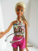 Barbie original doll 2 tone blonde hair shorts & top free dress high heel shoes
