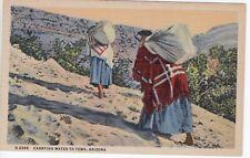 Tewa, Arizona Postcard Fred Harvey Restaurants Linen c. 1938       DD
