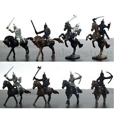28PCS Kids Toy Medieval Knights Warriors Horses Soldiers Figures Model Playset