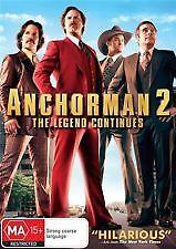 ANCHORMAN 2 - BRAND NEW & SEALED R4 DVD (WILL FERRELL, STEVE CARRELL, PAUL RUDD)